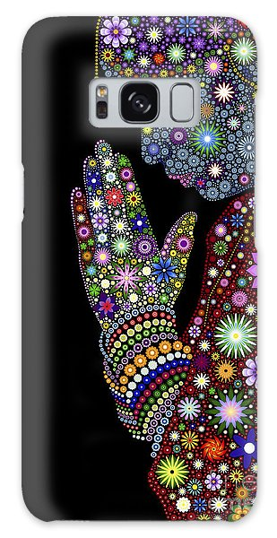 Flower Prayer Girl Galaxy Case