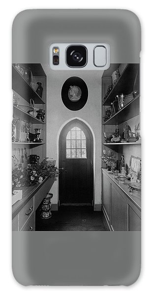 Flower Room In The Home Of Mrs. Charles Wheeler Galaxy Case