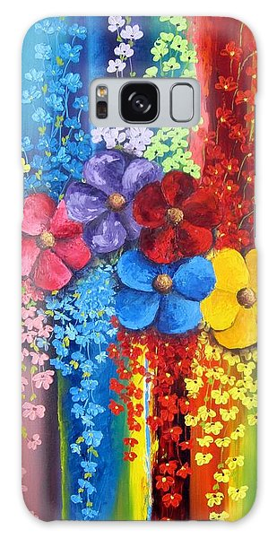 Flower Shower Galaxy Case