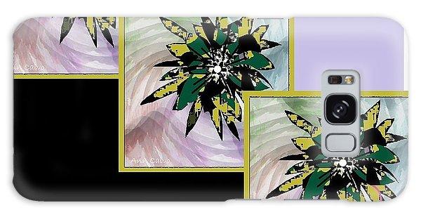 Flower Time Galaxy Case by Ann Calvo