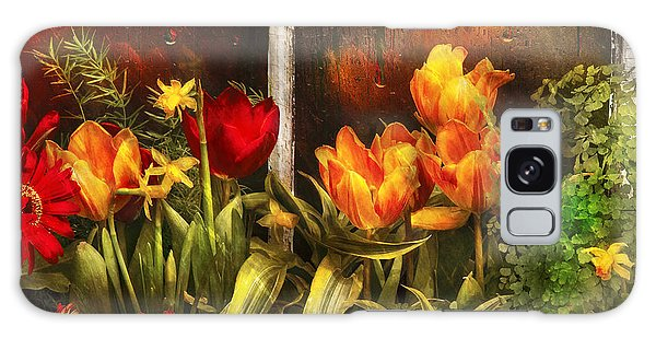 Gardens Galaxy Case - Flower - Tulip - Tulips In A Window by Mike Savad