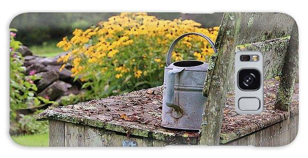 Flowered Bench Galaxy Case