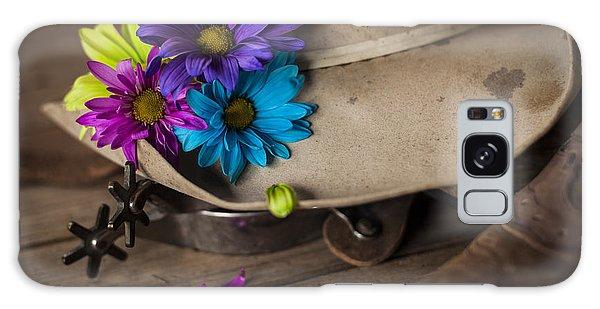 Flowered Hat Galaxy Case by Amber Kresge