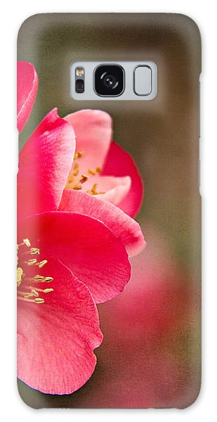 Flowering Quince Galaxy Case by Lana Trussell