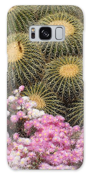 Flowers And Cacti Galaxy Case by Mark Barclay