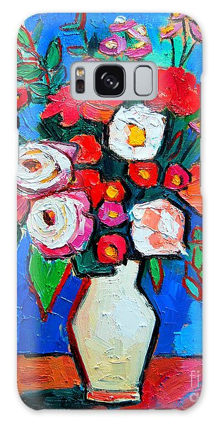 Flowers And Colors Galaxy Case by Ana Maria Edulescu