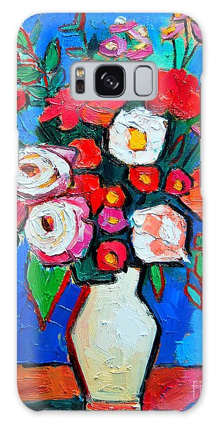 Flowers And Colors Galaxy Case