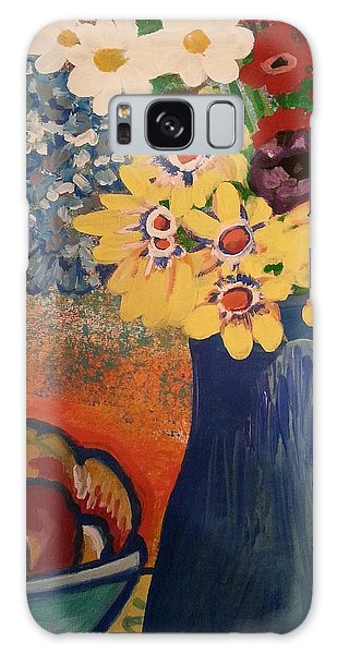 Flowers And Oranges Galaxy Case