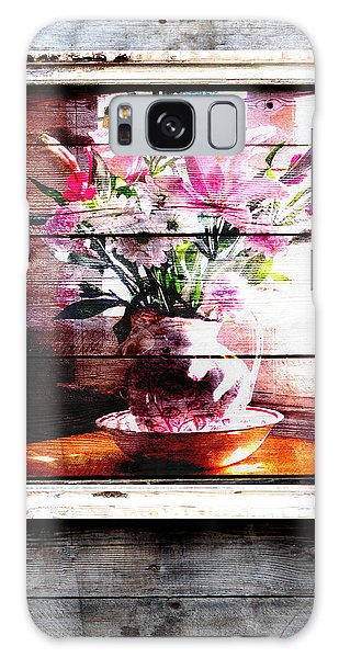 Flowers And Wood Galaxy Case by Patricia Greer