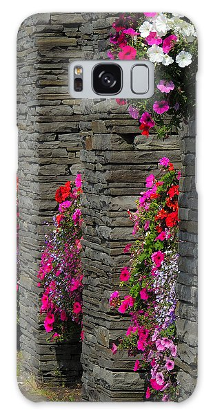 Flowers At Liscannor Rock Shop Galaxy Case