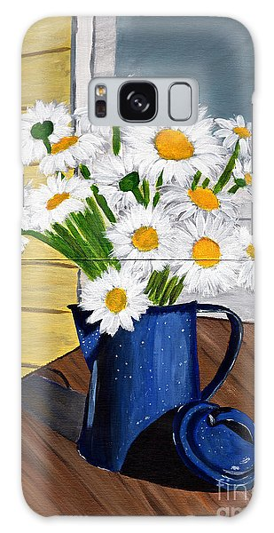Flowers In A Teapot Galaxy Case