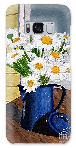 Flowers In A Teapot Galaxy Case by Laura Forde