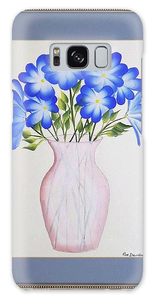 Flowers In A Vase Galaxy Case by Ron Davidson