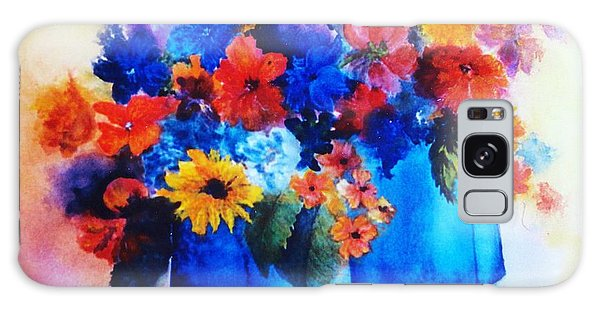 Flowers In Blue Vases Galaxy Case