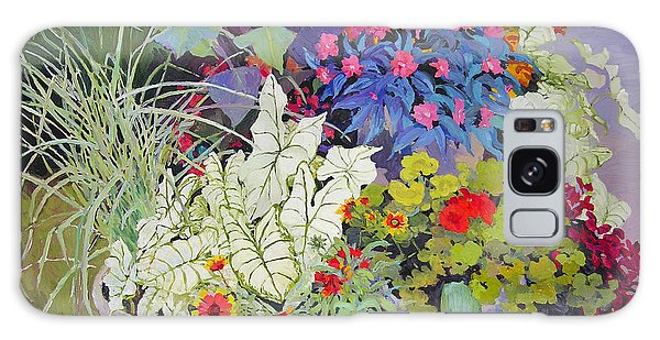 Flowers In The Courtyard Galaxy Case