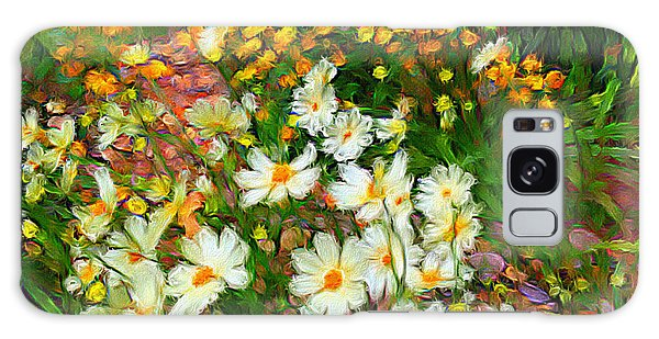 Flowers In The Garden Galaxy Case by Alan Lakin