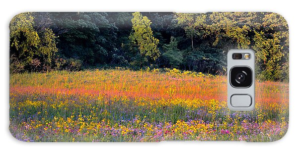 Flowers In The Meadow Galaxy Case by Deb Halloran