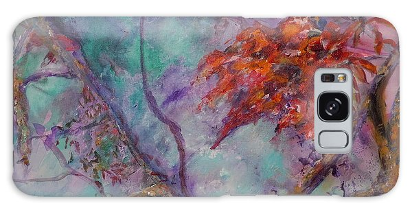 Flowers In The Mist Galaxy Case by Ellen Anthony