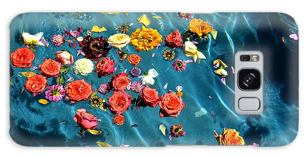 Flowers In The Pool Galaxy Case