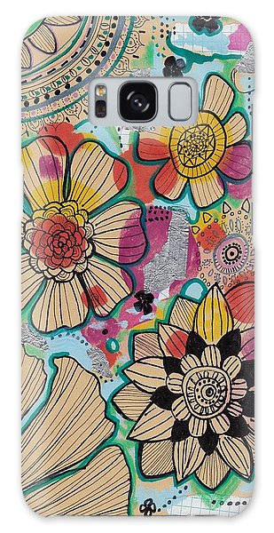 Flowers In The Sky Galaxy Case