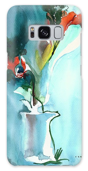 Flowers In Vase Galaxy Case