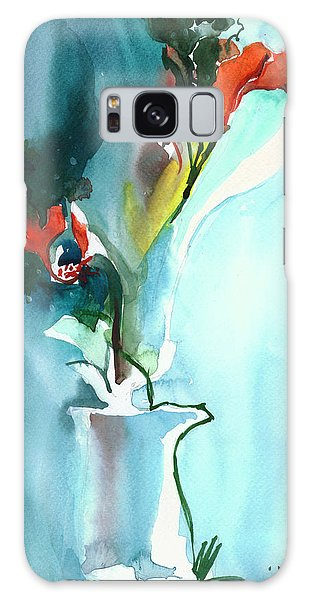 Flowers In Vase Galaxy Case