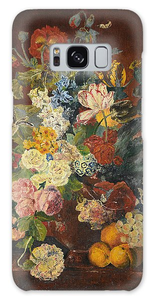 Flowers Of Light Galaxy Case by Mary Ellen Anderson