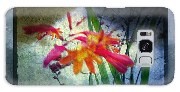 Flowers On Parchment Galaxy Case by Absinthe Art By Michelle LeAnn Scott