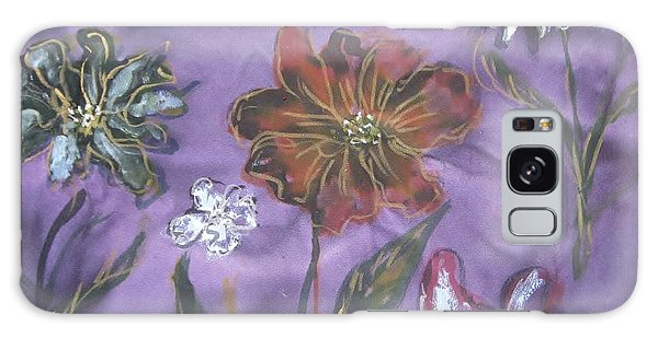Flowers On Silk Galaxy Case