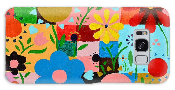 Flowers On The Quilt Galaxy Case