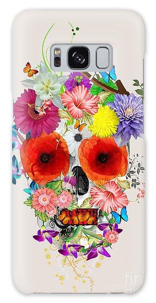 Calavera Galaxy Case - Flowers Scull  by Mark Ashkenazi