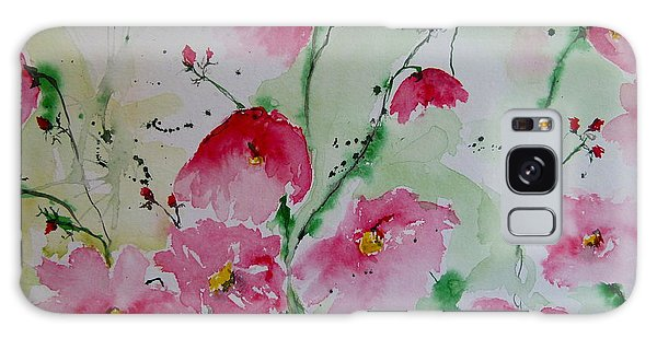 Flowers - Watercolor Painting Galaxy Case by Ismeta Gruenwald