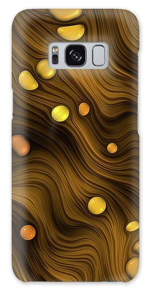 Flowing Amber Galaxy Case