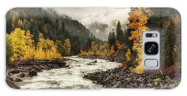 Flowing Through Autumn Galaxy Case