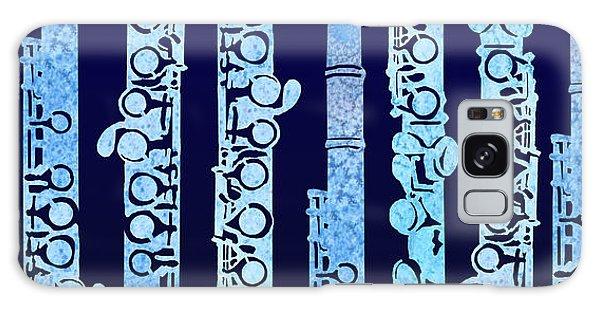 Flutes In Blue Galaxy Case