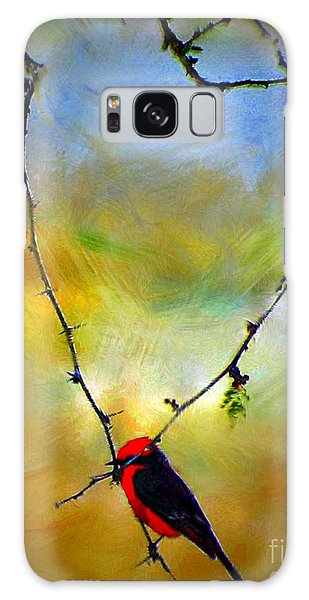 Fly Catcher In Heart Shaped Branch Galaxy Case