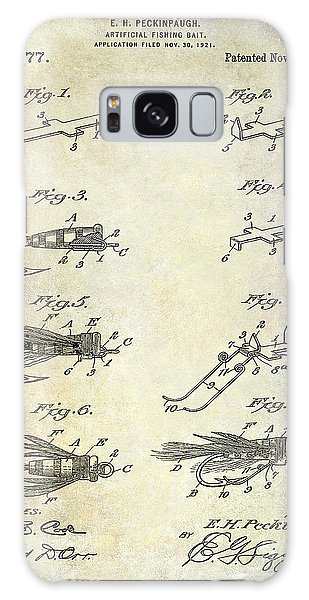 1922 Fly Fishing Lure Patent Drawing Galaxy Case