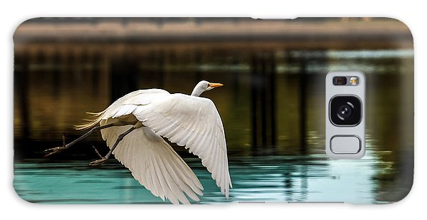 Haybale Galaxy Case - Flying Egret by Robert Bales
