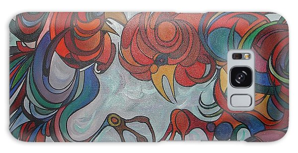 Flying Feathers Galaxy Case by Tracey Harrington-Simpson