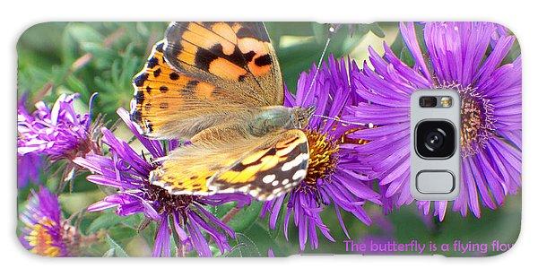 Flying Flower Galaxy Case by Sylvia Thornton
