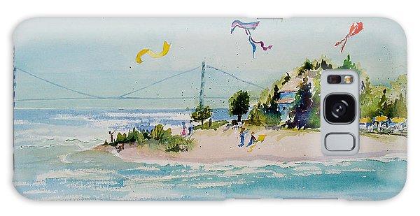 Flying High On Mackinac Island Galaxy Case by Sandra Strohschein