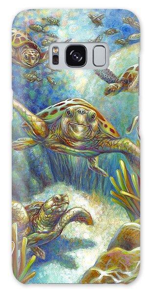 Flying Loggerhead Turtles Galaxy Case