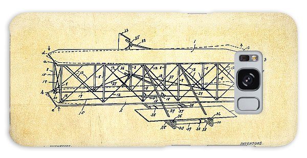 Airplane Galaxy Case - Flying Machine Patent Drawing From 1906 - Vintage by Aged Pixel