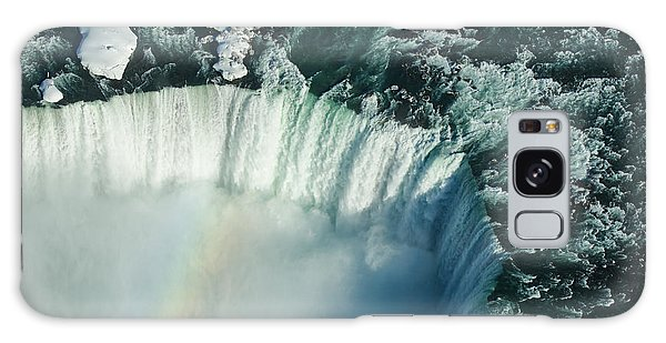 Flying Over Icy Niagara Falls Galaxy Case