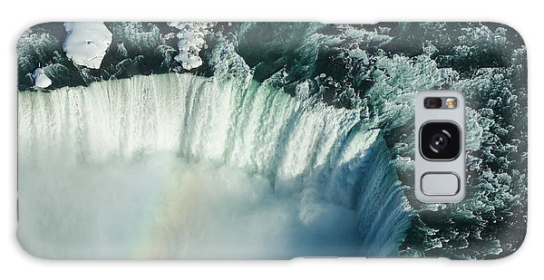 Flying Over Icy Niagara Falls Galaxy Case