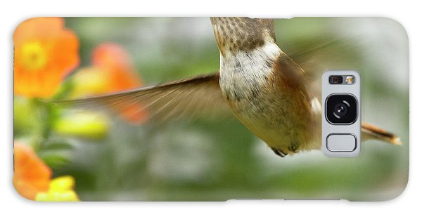 Galaxy Case featuring the photograph Flying Scintillant Hummingbird by Heiko Koehrer-Wagner