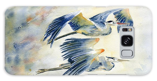 Herons Galaxy Case - Flying Together by Melly Terpening