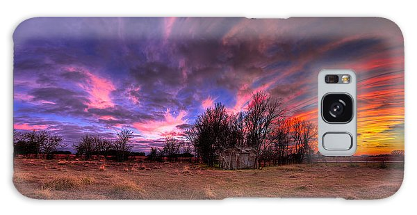 Fm Sunset Pano In Needville Texas Galaxy Case