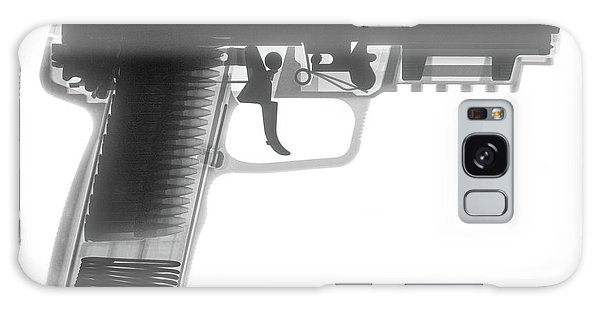 Calico M100 Galaxy Case - Fn 57 Hand Gun X-ray Photograph by Ray Gunz