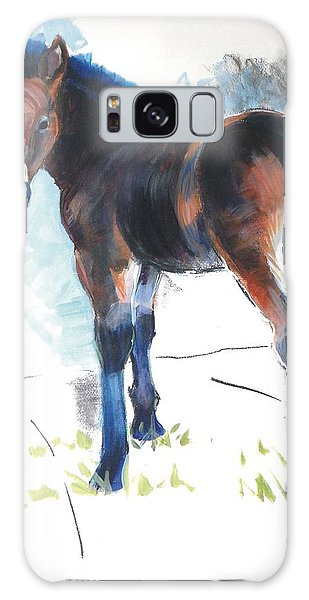 Foal Painting Galaxy Case